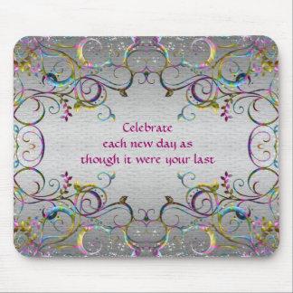 Colorful Spiral Swirl Patterns - Celebration Mouse Pad