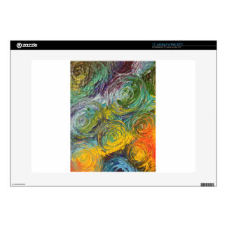 Colorful Spirals Abstract Painting Laptop Decal