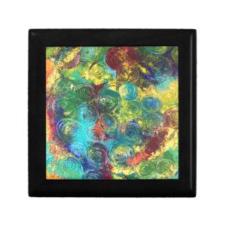 Colorful Spirals Jewelry Box