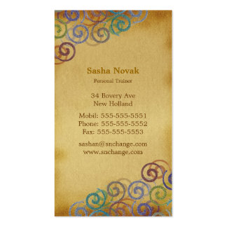 Colorful Spirals | Personal Trainer Business Card