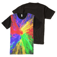 Colorful Splash All Over Printed T-Shirt All-Over Print T-shirt