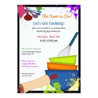 Colorful Splash Cooking Invitation