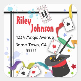 Colorful Splash Fun with Magic Address Label Square Sticker