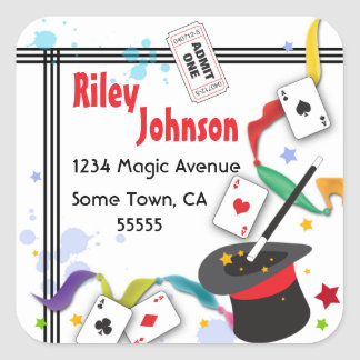 Colorful Splash Fun with Magic Address Label Sticker