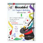 """Colorful Splash Fun with Magic Invitation 5"""" X 7"""" Invitation Card"""