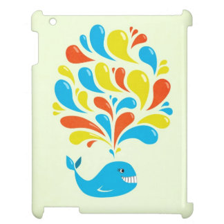 Colorful Splash Happy Cartoon Whale Lightweight Cover For The iPad