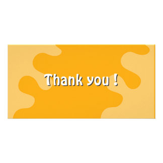 Colorful splash thank you design photo card