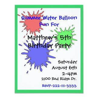 Colorful Splats Boy's Birthday Invitation