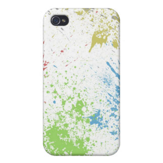 colorful splatter iPhone 4 cases