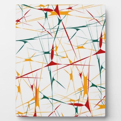 Colorful Splatter Shapes Plaque
