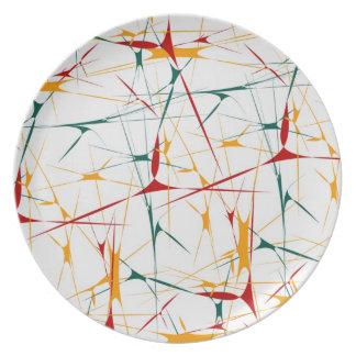 Colorful Splatter Shapes Plate