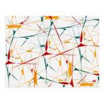 Colorful Splatter Shapes Postcard
