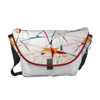 Colorful Splatter Shapes Rickshaw Messenger Bag