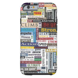Colorful Sports Fitness Coach iPhone 6 Cover Tough iPhone 6 Case