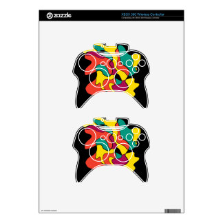 Colorful spot xbox 360 controller decal