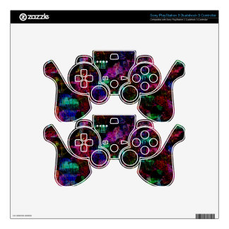 Colorful spots decal for PS3 controller