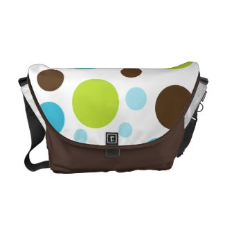 Colorful Spots Messenger Bag rickshawmessengerbag