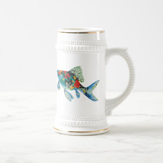Colorful Spotted Fish Beer Stein