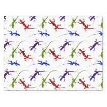 Colorful Spotted Geckos Lizards Tissue Paper