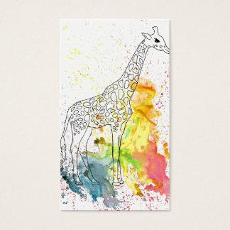 Colorful Spotty Giraffe (Kim Turnbull Art) Business Card