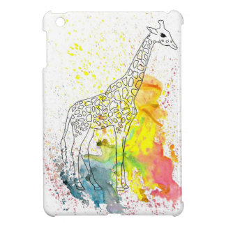 Colorful Spotty Giraffe (Kim Turnbull Art) iPad Mini Cover