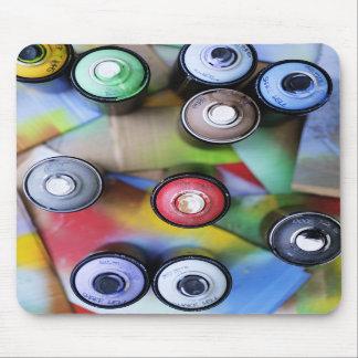 Colorful Spraycans Mousepad