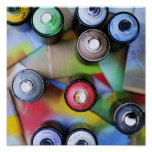 Colorful Spraycans Posters