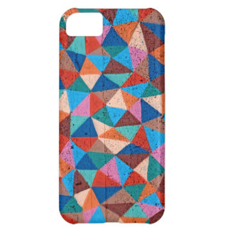 Colorful Sprayed Graffiti Triangles iPhone 5C Covers