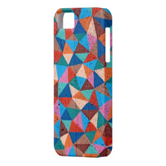 Colorful Sprayed Graffiti Triangles iPhone 5 Case