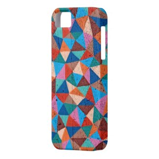 Colorful Sprayed Graffiti Triangles iPhone 5 Case