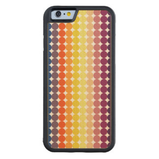 Colorful spread of dots carved maple iPhone 6 bumper case