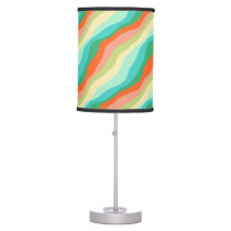 Colorful Spring Abstract Pattern Table Lamp