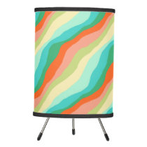 Colorful Spring Abstract Pattern Tripod Lamp