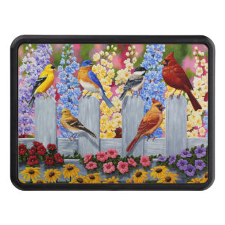 Colorful Spring Birds Garden Party Tow Hitch Cover