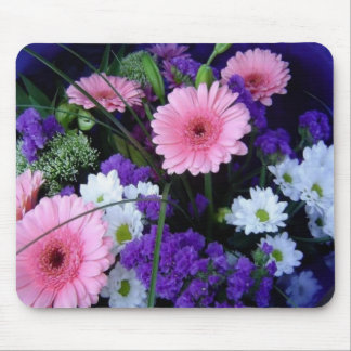 Colorful Spring Bouquet Mouse Pads