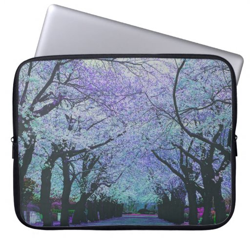 Colorful Spring Cherry Tree Blossom Landscape Laptop Computer Sleeves