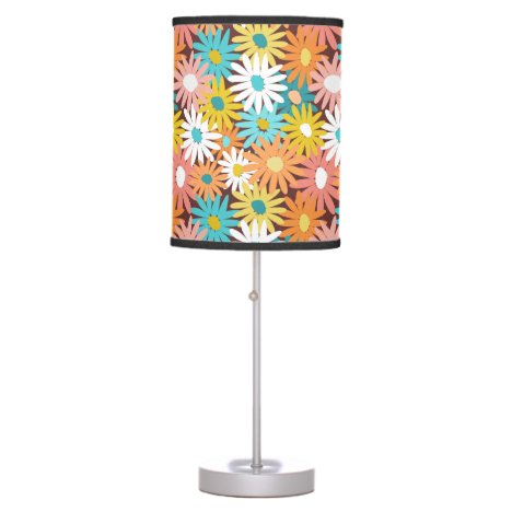 Colorful spring daisies desk lamp