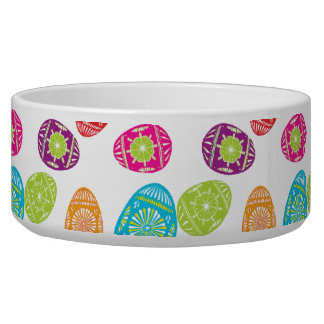Colorful Spring Easter Eggs Pattern Bowl