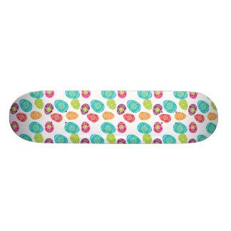Colorful Spring Easter Eggs Pattern Skate Deck