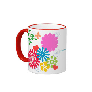 Colorful Spring Flora Ringer Coffee Mug