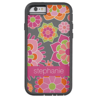 Colorful Spring Floral Pattern Custom Name Tough Xtreme iPhone 6 Case