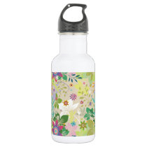 Colorful Spring Floral Pattern Stainless Steel Water Bottle