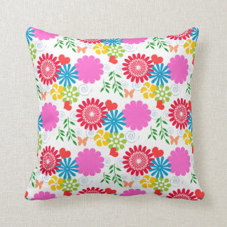 Colorful Spring Floral Pillows