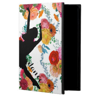 Colorful Spring Flowers Black Silhouette Dancer Cover For iPad Air