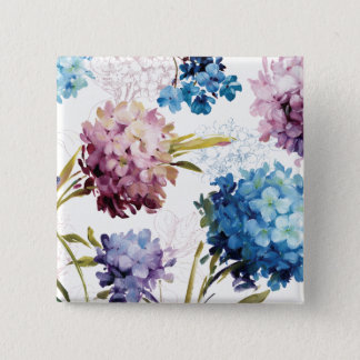 Colorful Spring Flowers Button
