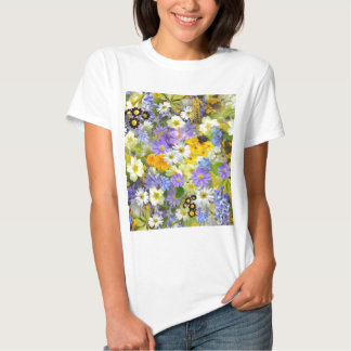 Colorful spring flowers composition tee shirt