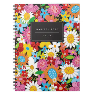 Colorful Spring Flowers Garden Custom Notebook