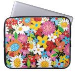 Colorful Spring Flowers Garden Electronics Bag Laptop Sleeve