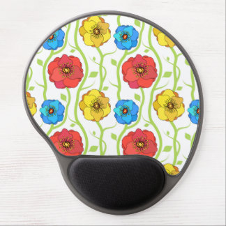 Colorful spring flowers gel mouse pad