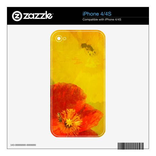 Colorful Spring Flowers iPhone skin Skin For The iPhone 4S